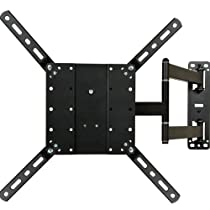 "VideoSecu Long Arm Full Motion Articulating Cantilever Swivel & Tilt TV Mount Wall Bracket for most 26""-47"" and some up to 55"" Fits VESA 400X400 400x300 400x200 300X300 200X200 LCD LED Plasma 3D Television and Display with Removable Mount Adaptor Plate - Heavy Duty 88 lbs load capacity ML550B A47"