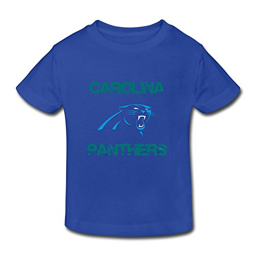 RoyalBlue Ambom Carolina Panthers Little Boys Girls O-Neck T Shirt For Toddlers
