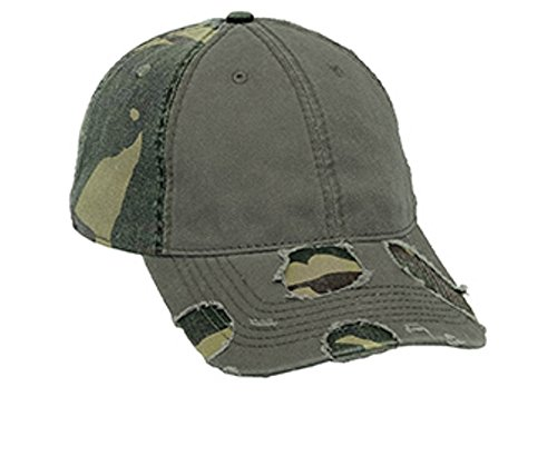 Hats & Caps Shop Camouflage Superior Garment Washed Cn Twill Distressed Visor Low Profile Pro Style Caps - By TheTargetBuys
