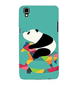 PrintVisa Cute Panda Animal Playing 3D Hard Polycarbonate Designer Back Case Cover for LG X Power