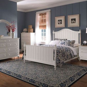 Broyhill Hayden Place 5 Piece Panel Bedroom Set in White