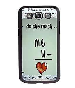 Fuson Love Mathematics Back Case Cover for SAMSUNG GALAXY E7 - D4076