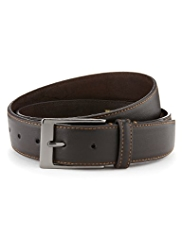Rectangular Buckle Contrast Stitch Belt