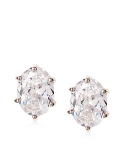 Cz by Kenneth Jay Lane 3.5Cttw Oval Cz Stud Earrings