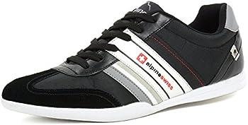 Alpine Swiss Mens Ivan Suede Trim Retro Tennis Shoes