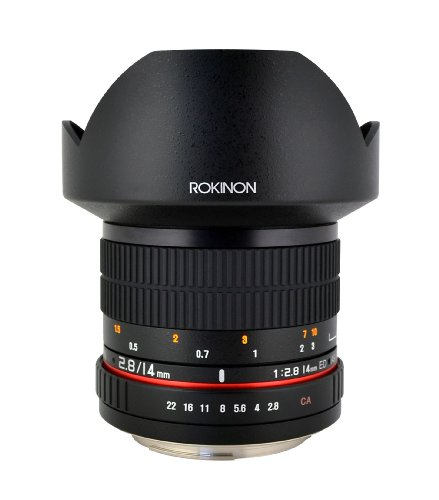 Rokinon FE14M-C 14mm F2.8 Ultra Wide Lens for Canon (Black)<br />
