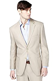 Big & Tall Linen Blend 2 Button Jacket