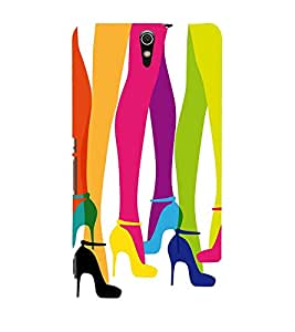 multicoloured girls legs in ballerinas in white background 3D Hard Polycarbonate Designer Back Case Cover for Sony Xperia C5 Ultra Dual :: Sony Xperia C5 E5553 E5506 :: Sony Xperia C5 Ultra