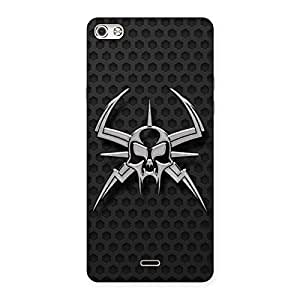 Special Skull Fission Back Case Cover for Micromax Canvas Silver 5