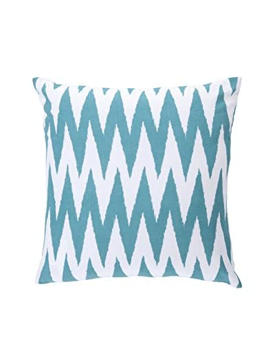 Surya Pillow, Ivory/Teal
