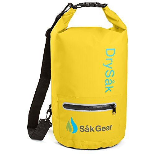 DrySak Premium Waterproof Dry Bag with Exterior Zip Pocket |