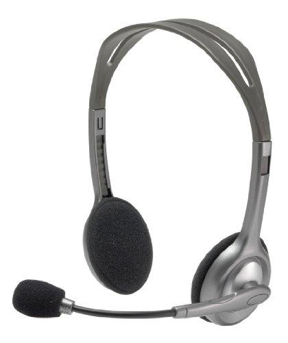 Logitech H110 Stereo Kopfhörer silber