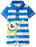 Disney Baby Baby-Boys Newborn Monsters Striped Romper