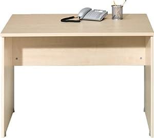 schreibtisch cs schmal soft plus 106 cm rechteckig aus. Black Bedroom Furniture Sets. Home Design Ideas