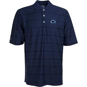 Penn State Nittany Lions Polo - NCAA Antigua Mens Tone Navy by Antigua