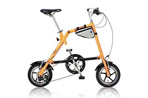 NANOO(ナノー) 12インチシマノ7段変速アルミ製折りたたみ自転車[専用輸行バッグ/トライフレームバッグ付属] FD-1207 オレンジ