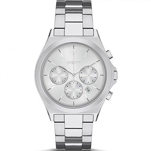 DKNY (DNKY5)-Orologio da donna al quarzo con Display analogico e cinturino in acciaio INOX color argento NY2378