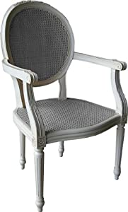chair with rattan panels shabby chic bedroom kitchen
