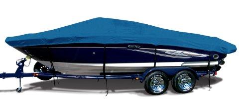 Caribbean Blue Exact Fit Boat Cover Fitting 2004 Sea Ray 185 Bowrider I/O Models, Sharkskin SD Supreme