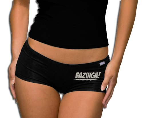 The Big Bang Theory - Bazinga Logo Panty - Short Black/Silver M