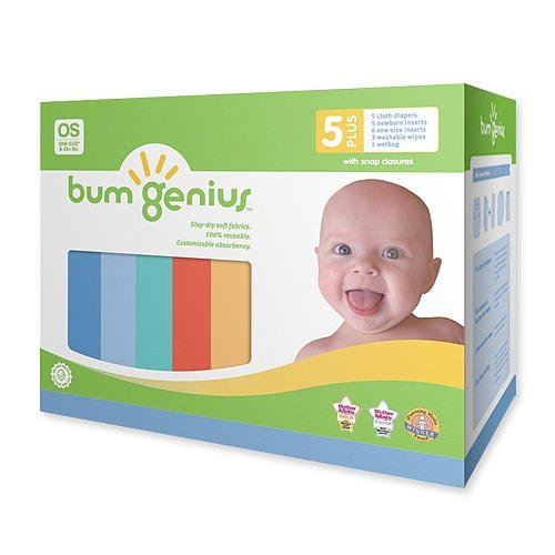 Bumgenius 4.0 Snap Staydry Cloth Diaper Boy 5+ Pk (One Size) front-573556