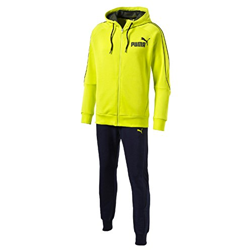 Puma Style Best Suit Sweat Tuta Sportiva - Verde (Limepunch/Peacoat) - M