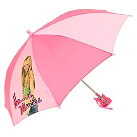 Kids Hannah Montana Pink Folding Vinyl Umbrella