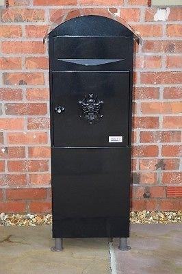 Generic Large Black Letter Box, Post Box Mail Box Letterbox large tall box