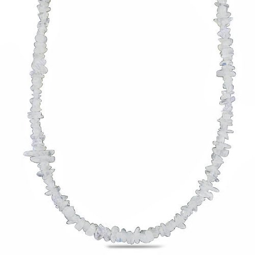 925 Sterling Silver Natural Rainbow Moonstone Gemstone Beads Shape Strand Necklace 19 Inches New Jewelry Set
