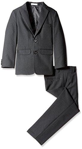 IZOD Big Boys' Solid Textured Suit, Black, 08 Regular