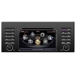 Car DVD di navigazione GPS con dual-core / 3 Zona POP 3G/WIFI/20 disco CD / DVD Recording / tel / gioco per BMW X5 Serie 5