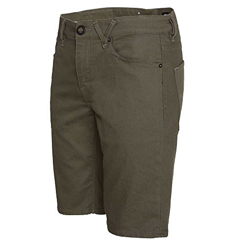 Volcom SOLVER TWILL SHORT Old blackboard SPRING 16 - 38