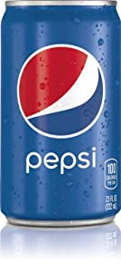 Pepsi, 7.5 Fl Oz Mini Cans, 24 Pack