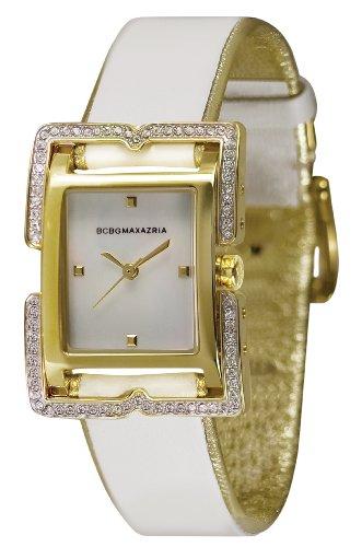 BCBGMAXAZRIA Ladies Watch BG6241 with White Leather Strap