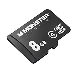 Monster Digital Bunker Series 8 GB microSDHC Class 4 Flash Memory Card USD-0008