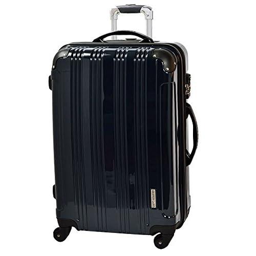TSAロック搭載 スーツケース キャリーバッグ FK2100 ミラーQueendom ミッドナイト(紺色系)S型(2~4日用) Sサイズは、国内/国際線持込可能。