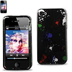 Protector Cover IPHONE 4S Snap On Hard Case Paint Splat Design 2DPC-IPHONE4S-176