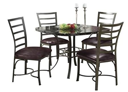 ACME Furniture Daisy 5 Piece Dining Set in Chocolate