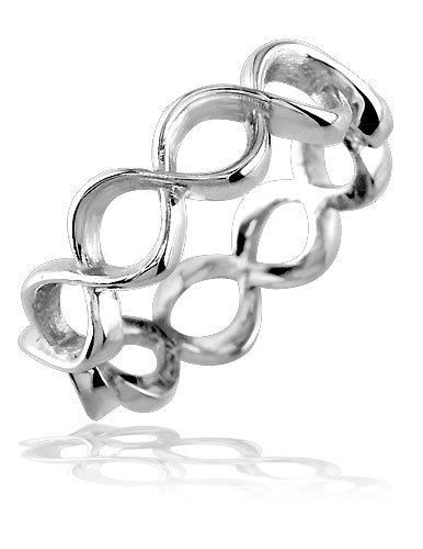 10k White Gold Full Infinity Symbol Ring