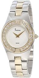 Freelook Women's HA2082G-3 Silver-Gold Band Swarovski Bezel Watch