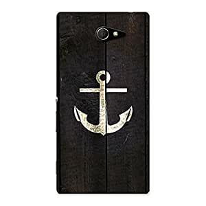 Impressive Bold Anchor Back Case Cover for Sony Xperia M2