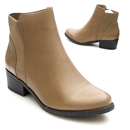 Kayla shoes Damen Biker Boots Winterstiefel Stiefeletten K-8 Khaki 37