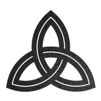 Celtic Design... Black-Metallic (10 X 9.1 inch) XKRX6
