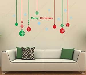 Custom popdecals christmas decals for Christmas wall art amazon