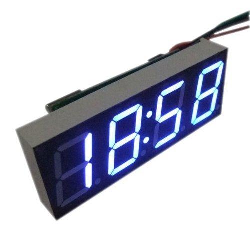 "Riorand 0.56"" Blue Led Meter Electronical Digital Car Motorcycle Clock Watch Dc 12V/24V Time Display"