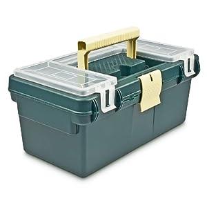 Werkzeugkasten Kunststoff leer mit herausnehmbarer Ablage