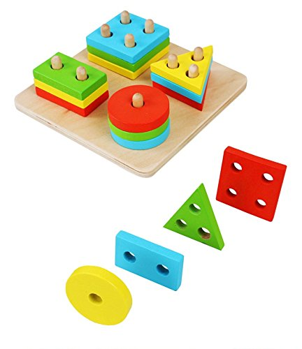 1-Set-of-Montessori-Child-Wooden-Geometry-Intelligence-Board-Baby-Toy-Shape-Column-Building-Blocks