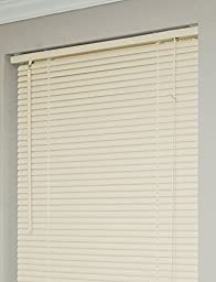 Achim Home Furnishings Morning Star 1-Inch Mini Blinds, 54 by 64-Inch, Alabaster