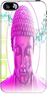 Snoogg Buddha Telepathy Designer Protective Back Case Cover Forapple Iphone 5...