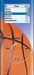 Basketball - Apple iPod nano 2G (2nd Generation) 2GB 4GB 8GB Hard Case iJacket - Shock Absorbent Hard Protective Faceplate Cover + FREE Rotating Belt Clip Holster + FREE Lanyard + FREE Screen Protector